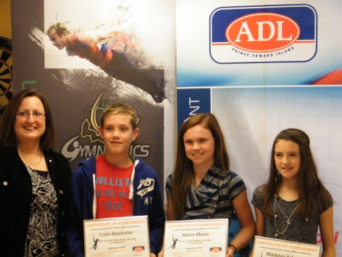 GPEI Awards 2011- Cindy Fraser, ADL rep, Colin Blackadar, Alison Muise, and Madelyn Aylward