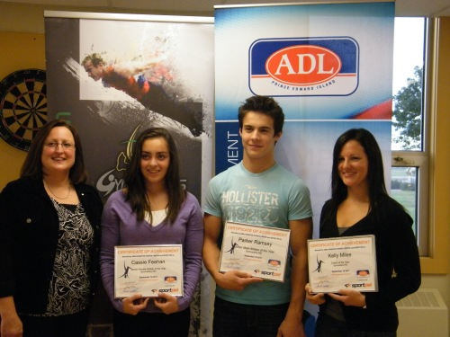GPEI Awards 2011- Cindy Fraser, ADL rep, Cassie Feehan, Parker Ramsay, & Kelly Miles