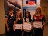 GPEI awards 2013- Cindy Fraser, Dara MacInnis, Selina Mahajer, Jennifer MacDonald-Martin