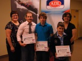 GPEI awards 2013- Cindy Fraser, Scott Chandler, Alex Mann, Isaac Bourque, Paula Gallant