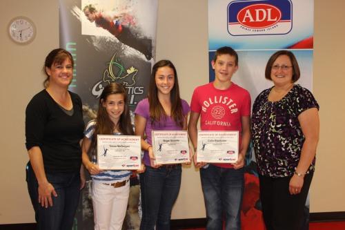 GPEI Awards 2012- Paula Gallant, Tessa McGuigan, Megan Doucette, Colin Blackadar, & Cinder Fraser, ADL rep