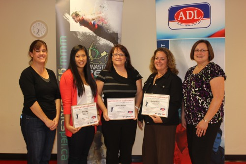 GPEI Awards 2012- Paula Gallant, Alice Ma, Shelley Parker, Janice Hicks, & Cindy Fraser, ADL rep