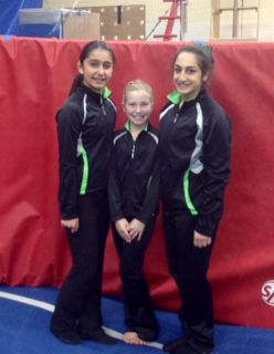 Selina, Karisa, Natalie at CG trials Nov 2014